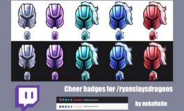 Custom (3 or more) Cheer badges