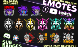I will design twitch emotes,twitch badges, twitch sub badges