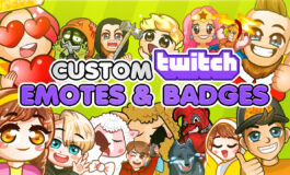 Custom amazing twitch emotes and badges for Twitch, Discord, Youtube, Facebook and Stream