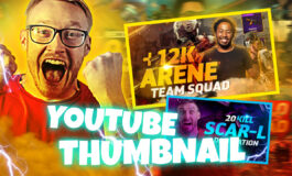 Custom Amazing unique Thumbnail for Youtube, Twitch and Facebook gaming