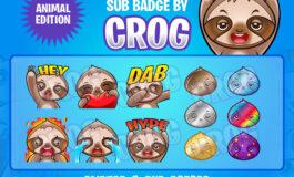 PREMADE Twitch Emote   Sloth Emotes
